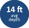 14ft average depth