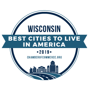 Best Cities To Live Wisconsin 2019 badge Opens in new window